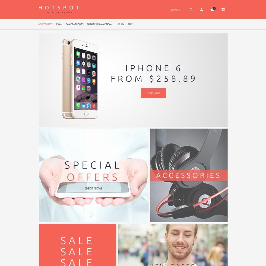 Hotspot theme for mobile shop