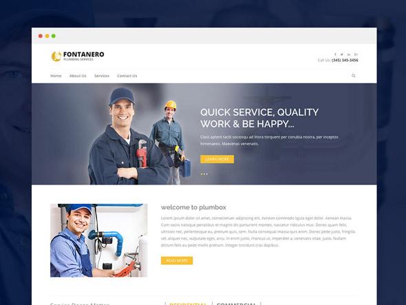 Fontanero-plumbing-template