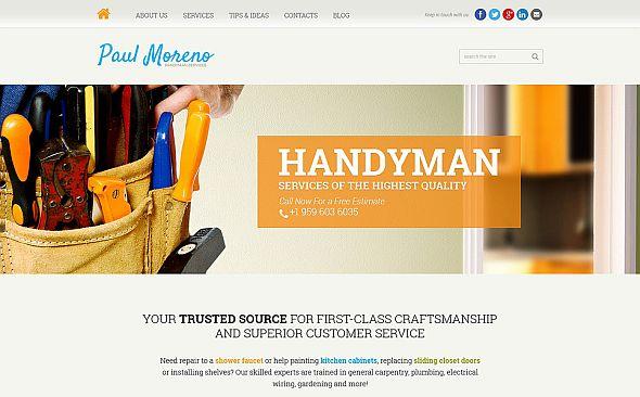 Handyman Joomla template image