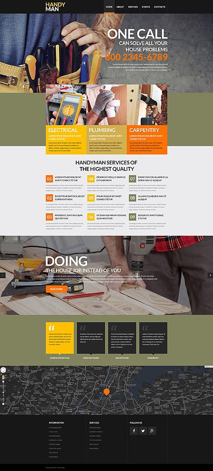 Handyman Onecall responsive template image