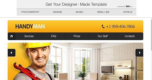 Handyman service web theme's image