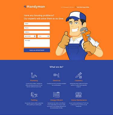 Landing page Handyman Services picture