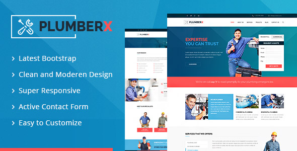 Plumberx template Themeforest