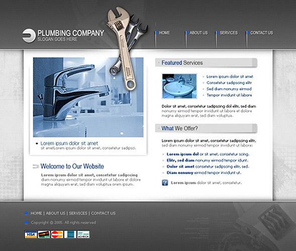 Plumbing Company template hostgator