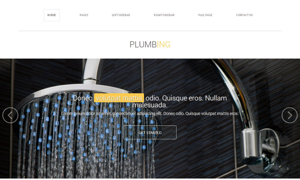 Plumbing Services web template-from-dreamtemplate