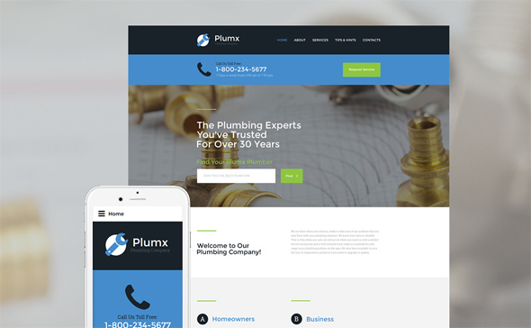 Plumx-website -template-from-templatemonster