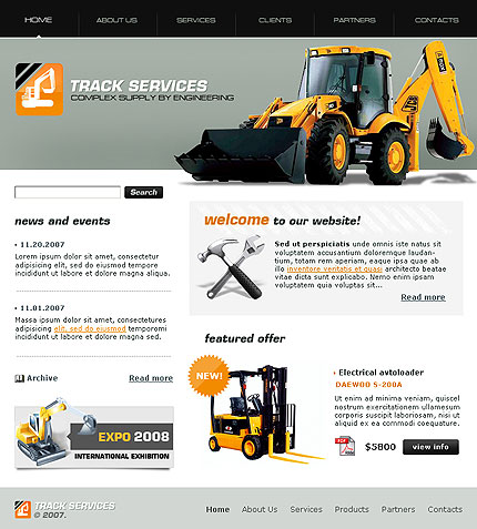Track-services-website-template