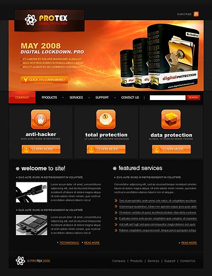 protection-services-website-template