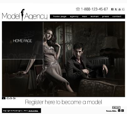 model agency easy flash website template free tonytemplates blog. Black Bedroom Furniture Sets. Home Design Ideas