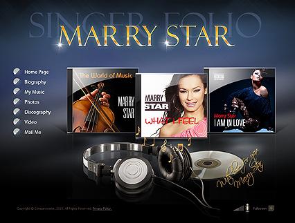 Singer Folio website templates image