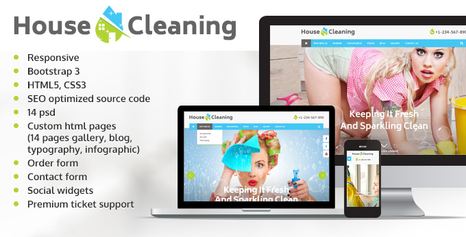 House Cleaning website template image