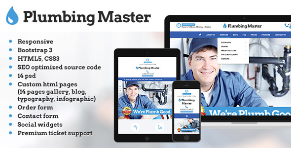 Plumbing Master website template
