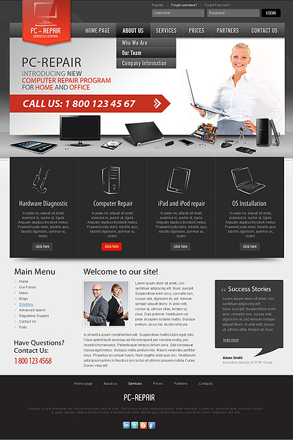 Computer Repair Joomla template