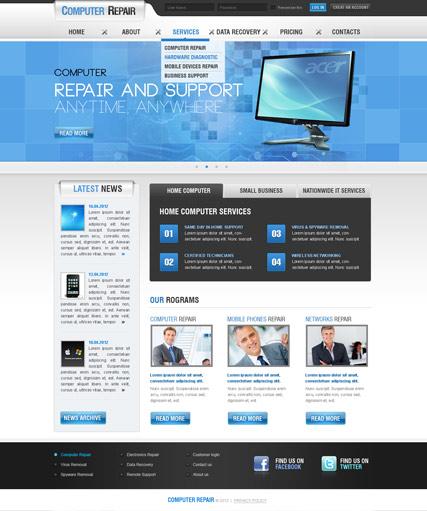 9 Adorable Computer Repair Website Templates - Tonytemplates blog