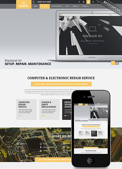 Computer and Electronic Service template