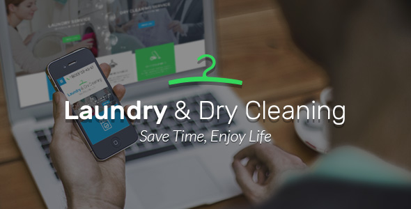 Laundry and Dry Service website template