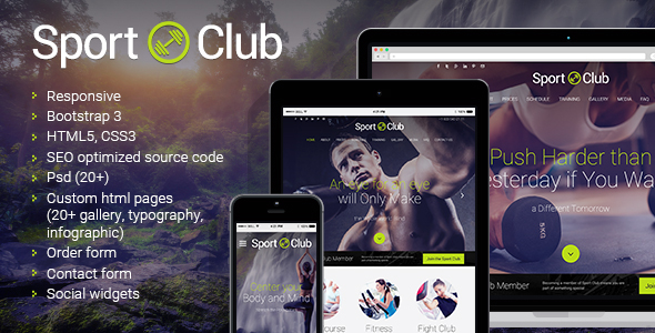 Sport Club html5 template image