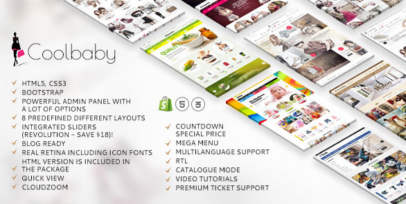 Image for Coolbaby Shopify website theme