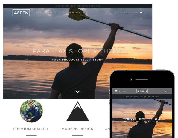 Parallax Shopify theme
