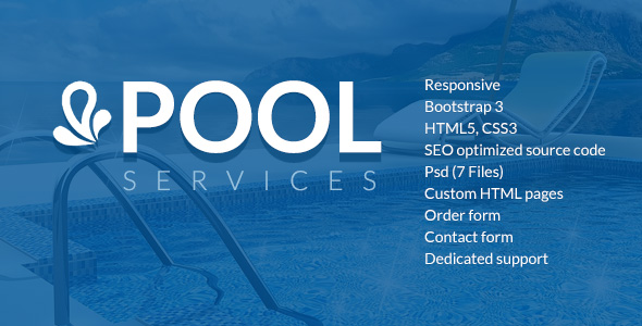 Pool Services html5 template