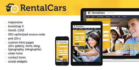 Rental Cars Website Template