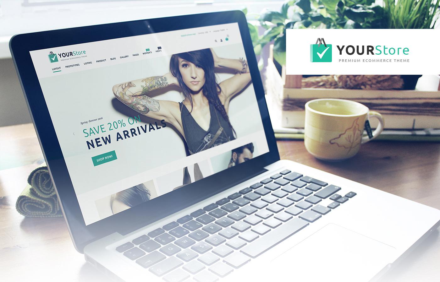 free youstore psd template get on behance tonytemplates blog. Black Bedroom Furniture Sets. Home Design Ideas