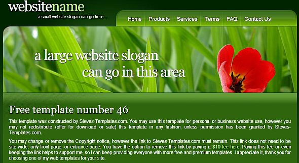 Lawn website theme
