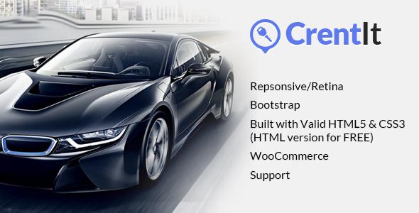 Rental Car template WordPress