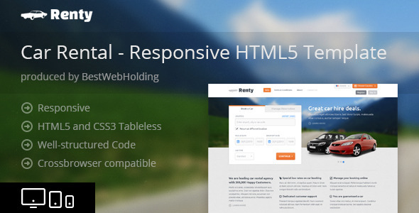 Renty Car Html5 Template