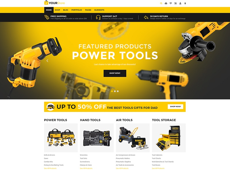 Tools YourStore Shopify Theme