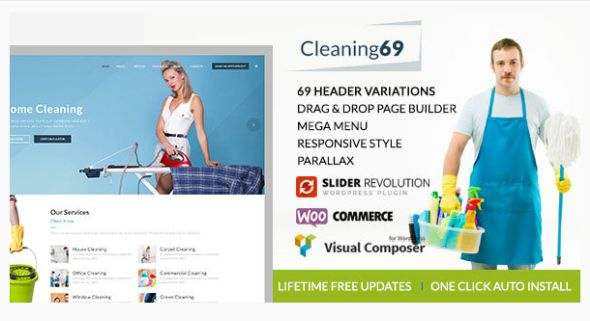 CLEAN69 WordPress template