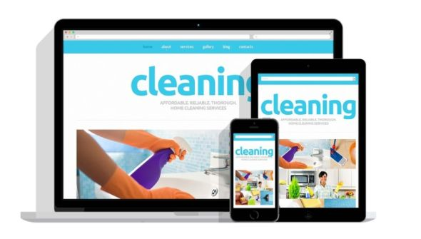 Cleaning Joomla website template