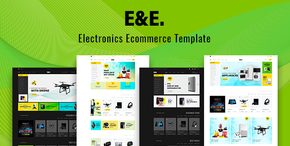 E and E electronics website theme