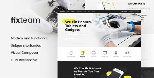 FixTeam - Electronics website theme