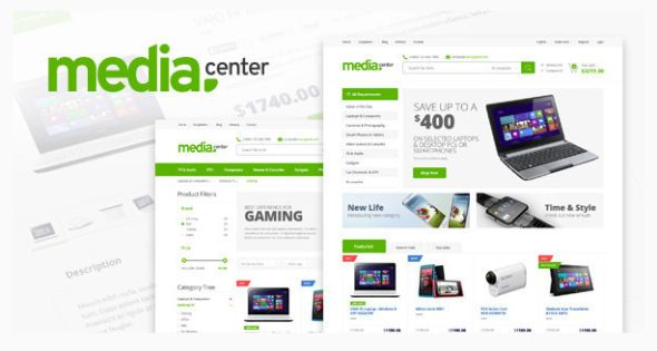 Media Center Html website template