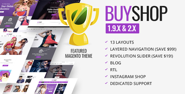 BuyShop Magento website theme