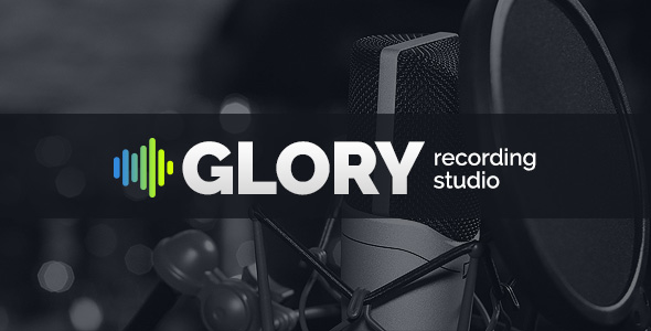 Recording Studio Glory website template