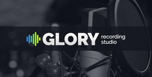 Recording Studio Glory website template