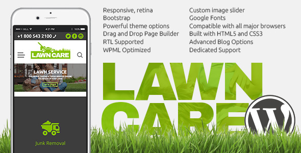 Lawn Care WordPress Template