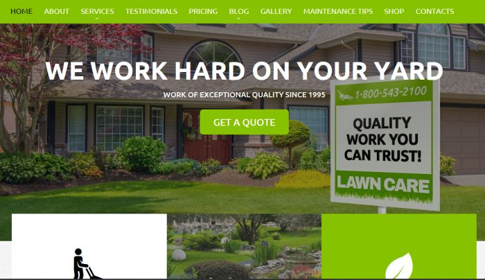 Lawn Care template image