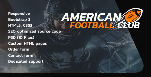 American Football website template