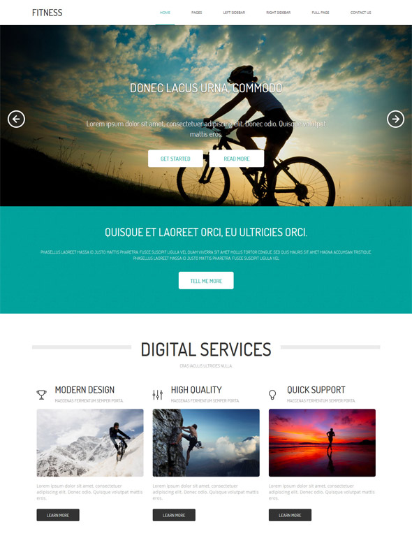 Fitness website template