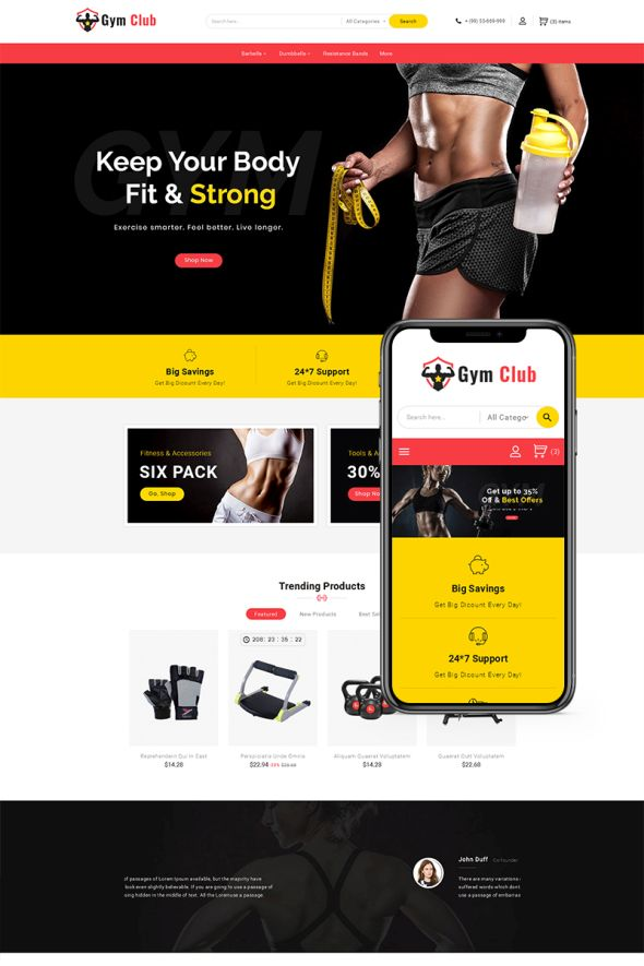 Gym Club template