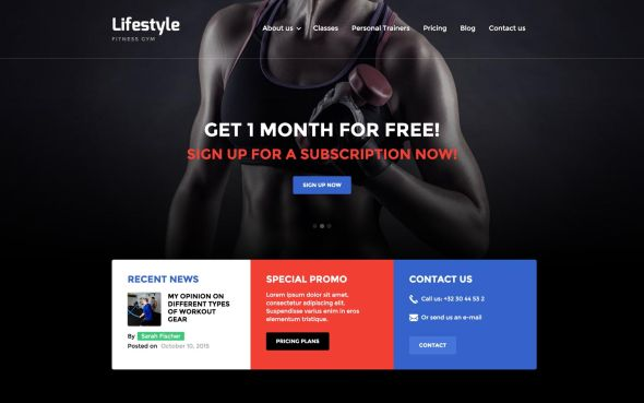 Lifestyle Gym template