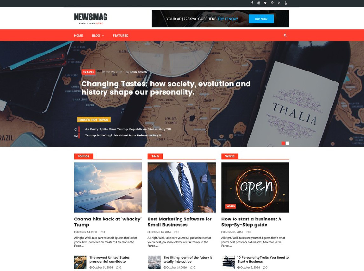 WordPress theme Newsmag