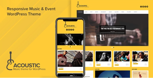 Acoustic WordPress music theme