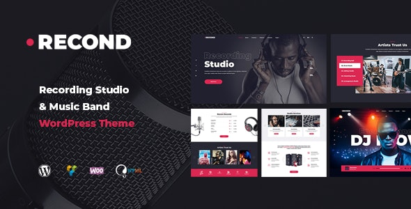Recond - Recording Studio WordPress theme