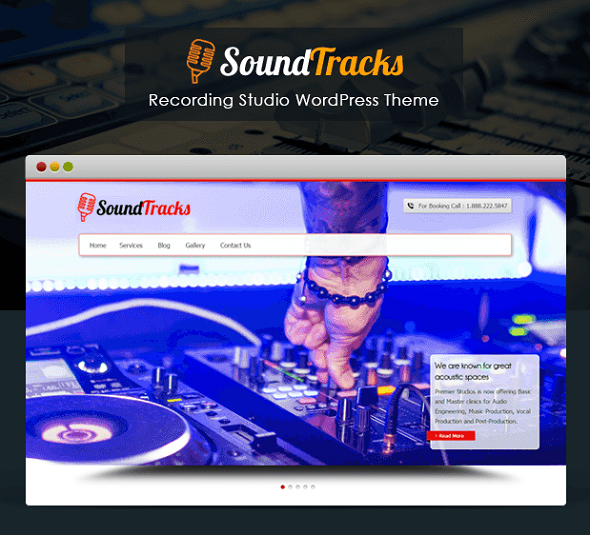 Studio WordPress theme SOUND TRACKS