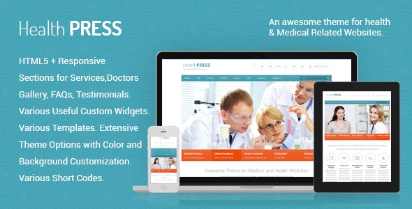 HealthPress template for WordPress