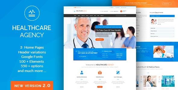 WordPress theme Health Care Agency